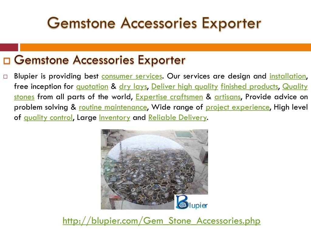PPT - Gemstone Accessories Exporter PowerPoint Presentation