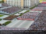 a general view shows a pyongyang city mass rally 2