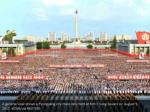 a general view shows a pyongyang city mass rally 3