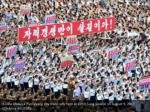 a view shows a pyongyang city mass rally held 1