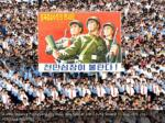 a view shows a pyongyang city mass rally held