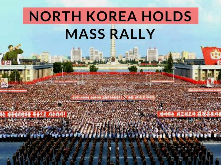 north korea holds mass rally n.