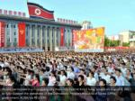 people participate in a pyongyang city mass rally