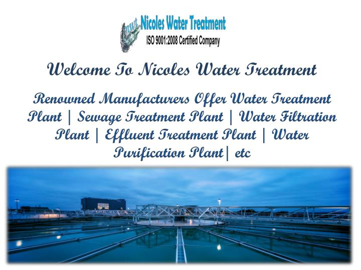 welcome to nicoles water treatment n.