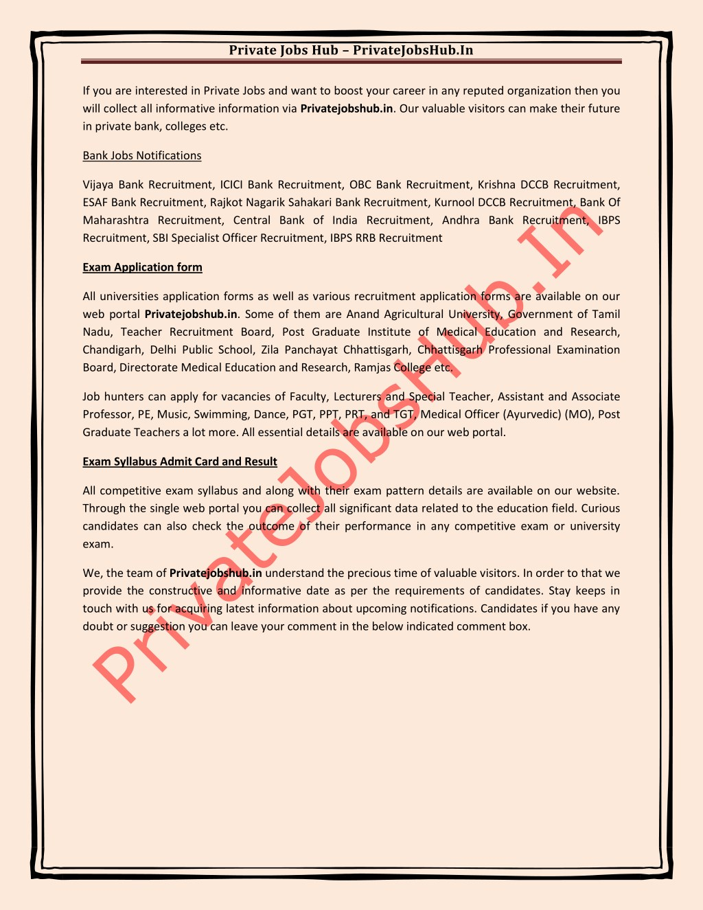 PPT - Private Jobs Hub PowerPoint Presentation - ID:7660939