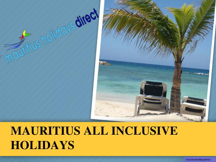 mauritius all inclusive holidays n.