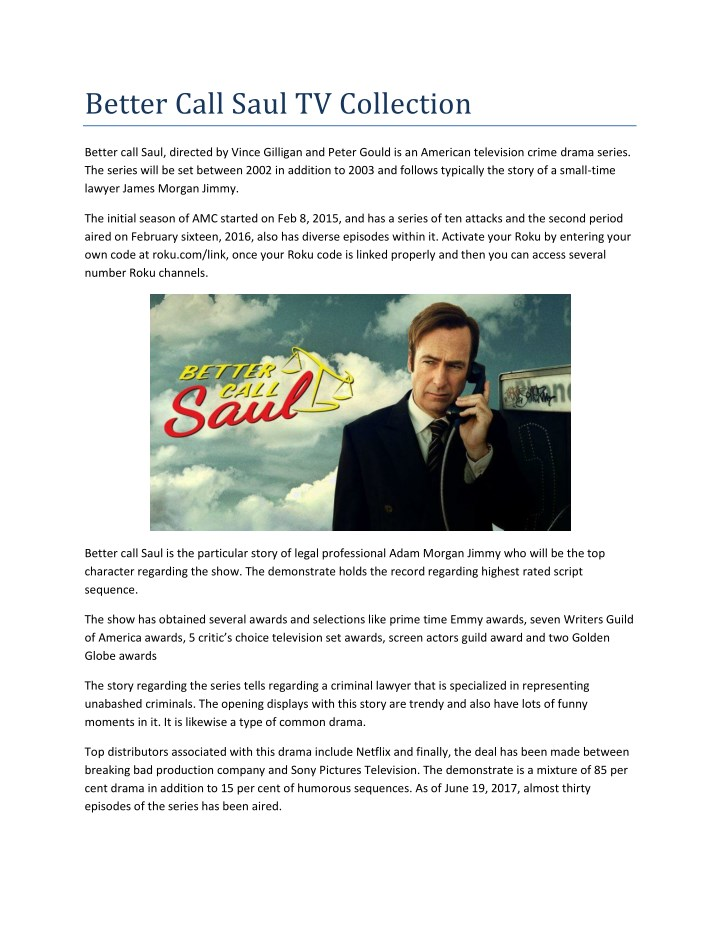 better call saul tv collection n.