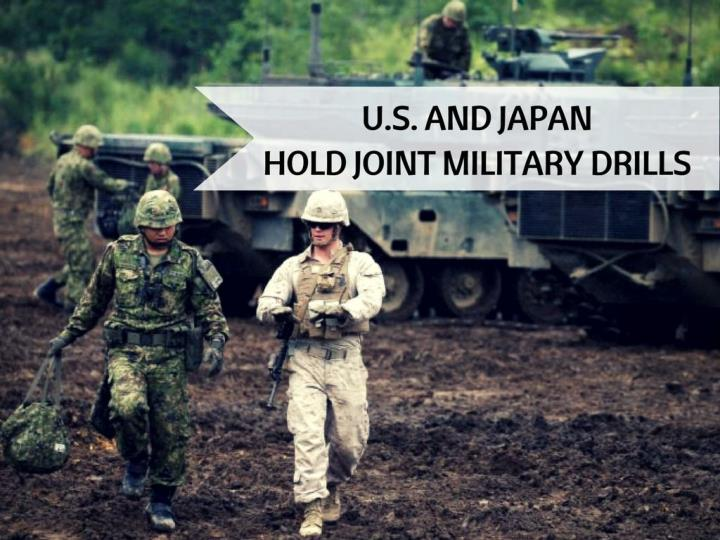 U s and japan hold joint military drills