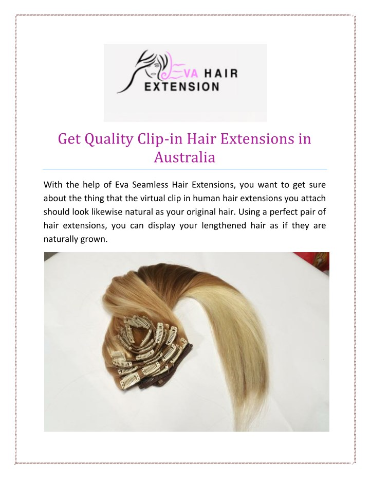 Ppt Get Quality Clip In Hair Extensions In Australia Powerpoint