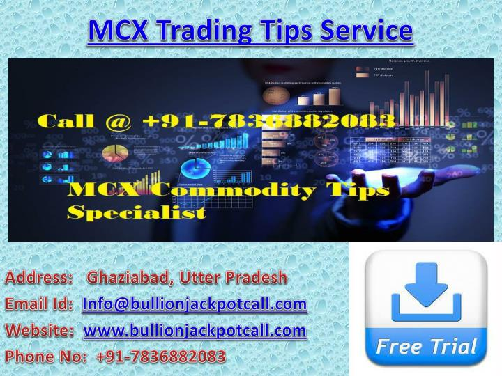 mcx trading tips service n.