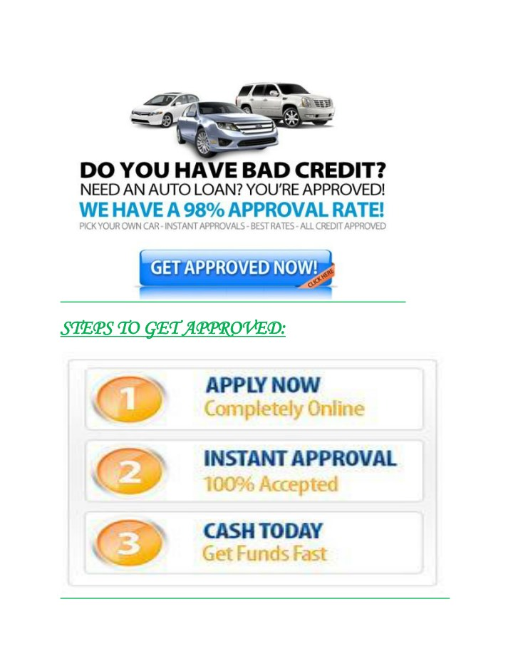 Ppt Instant Way To Get Quick Approval On Car Title Loans