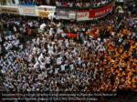 devotees form a human pyramid during celebrations