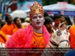 hindu devotees take part in a procession
