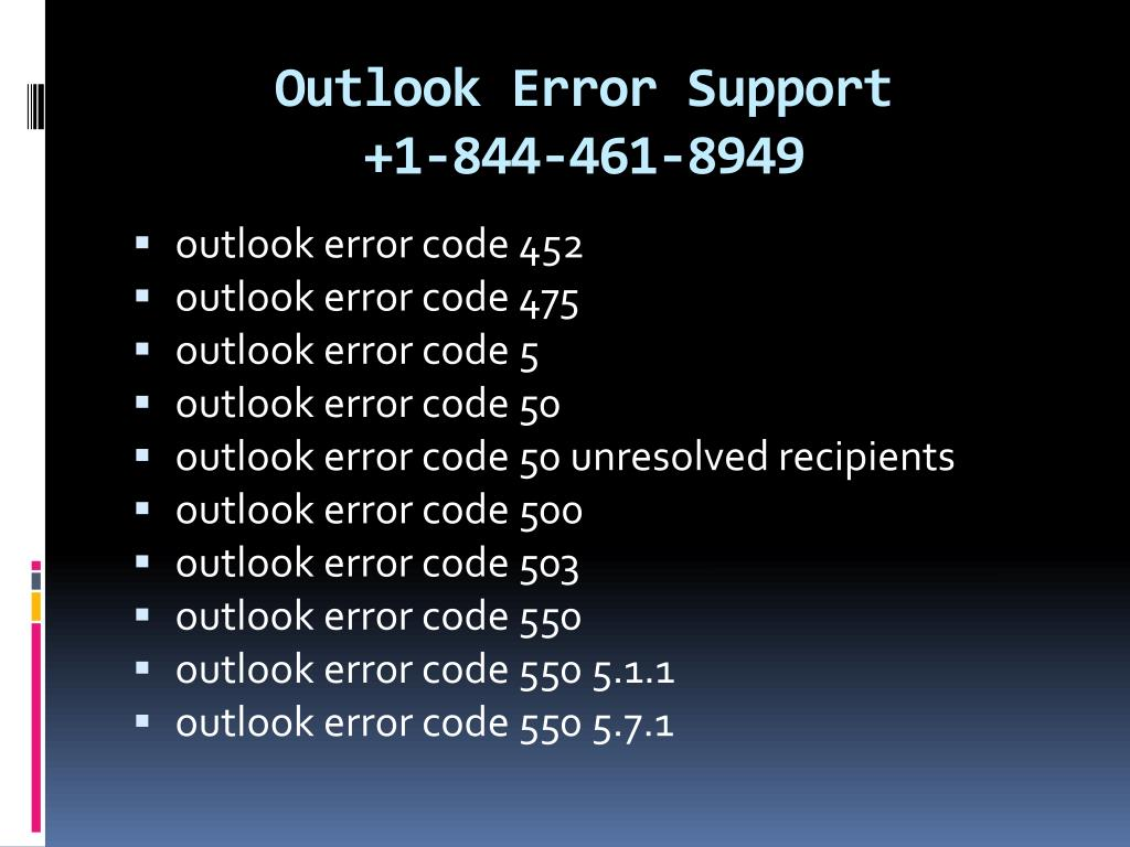PPT - Microsoft outlook error support 1 844-461-8949, outlook