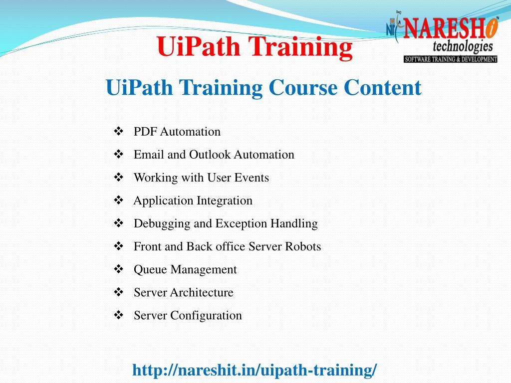 PPT - UiPath Training Best RPA Training Institute In