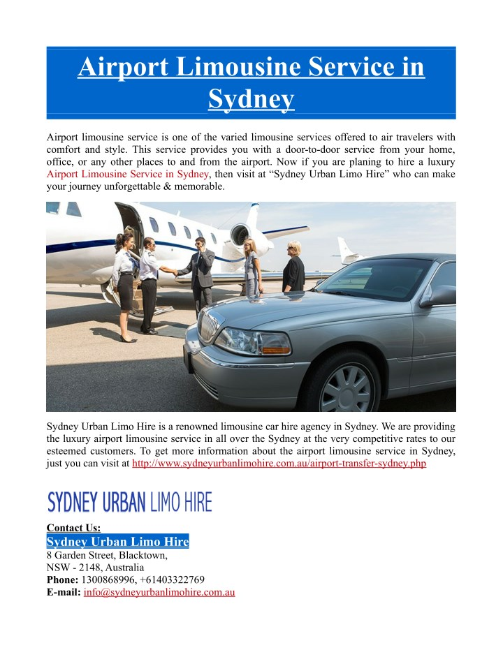 airport limousine service in sydney n.