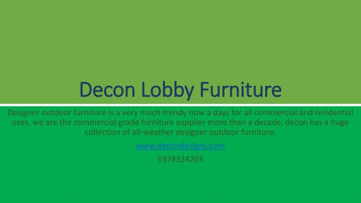 decon lobby furniture n.