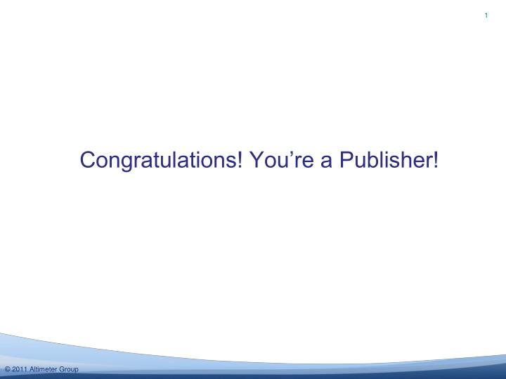 congratulations you re a publisher n.