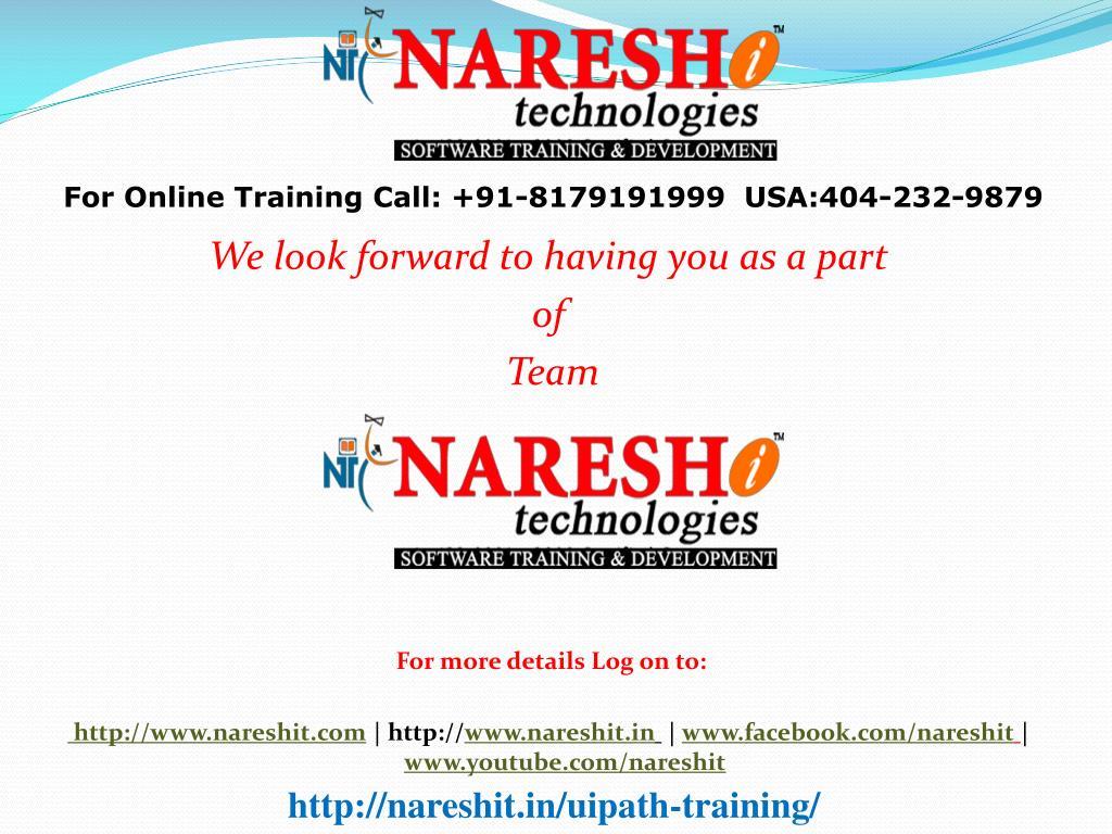 PPT - UiPath Training In Hyderabad-Best RPA Training Institute In