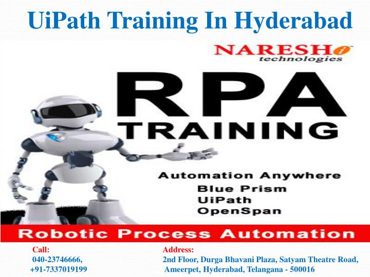 PPT - UiPath Training In Hyderabad-Best RPA Training