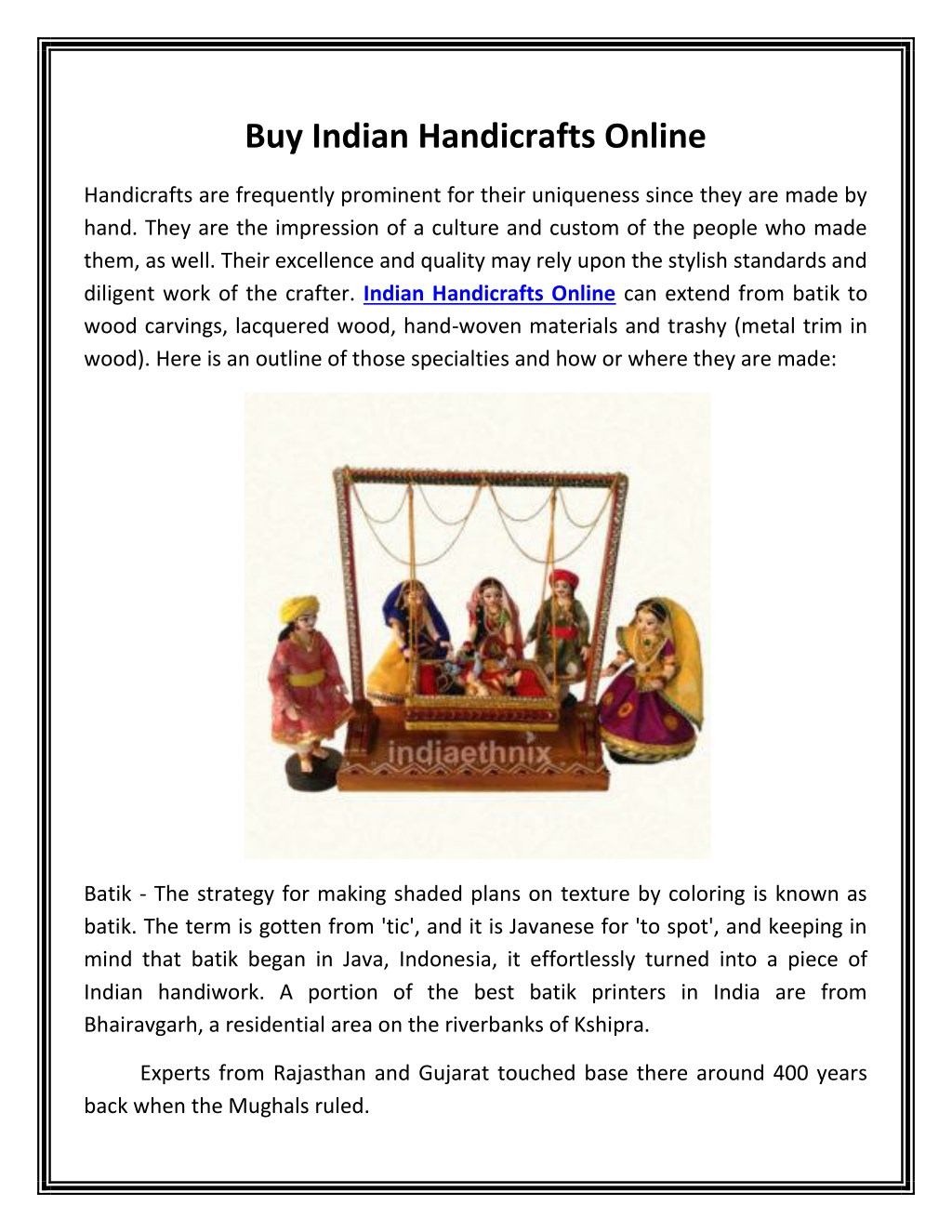 Ppt Buy Indian Handicrafts Online Powerpoint Presentation Id 7667169