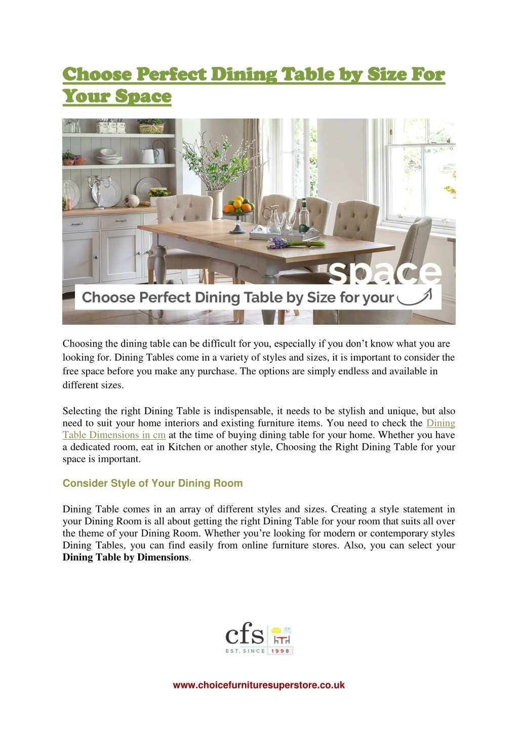 b635424037 Choose Perfect Dining Table by Size For Choose Perfect Dining Table by Size  For Your ...