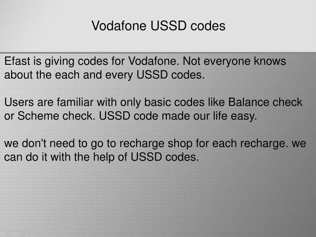 What is the recharge code of vodafone