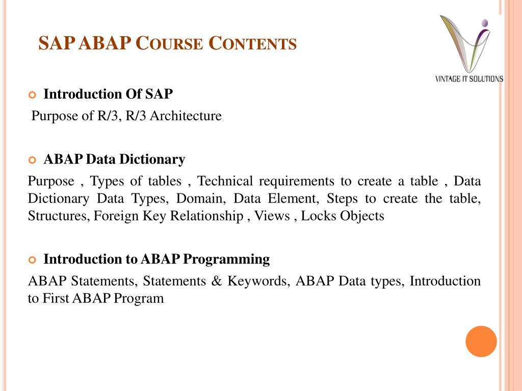 PPT - SAP ABAP Training Online | SAP ABAP Training in Pune