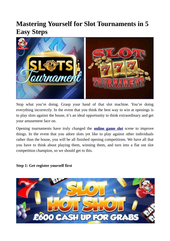 mastering yourself for slot tournaments in 5 easy n.