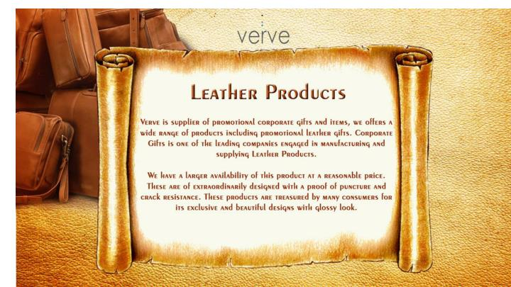 PPT - Promotional Leather Gifts | Corporate Business Gift