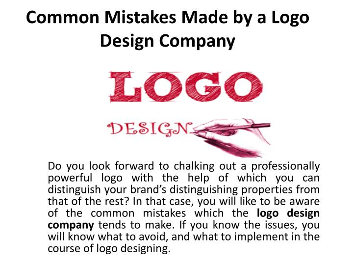 common mistakes made by a logo design company n.