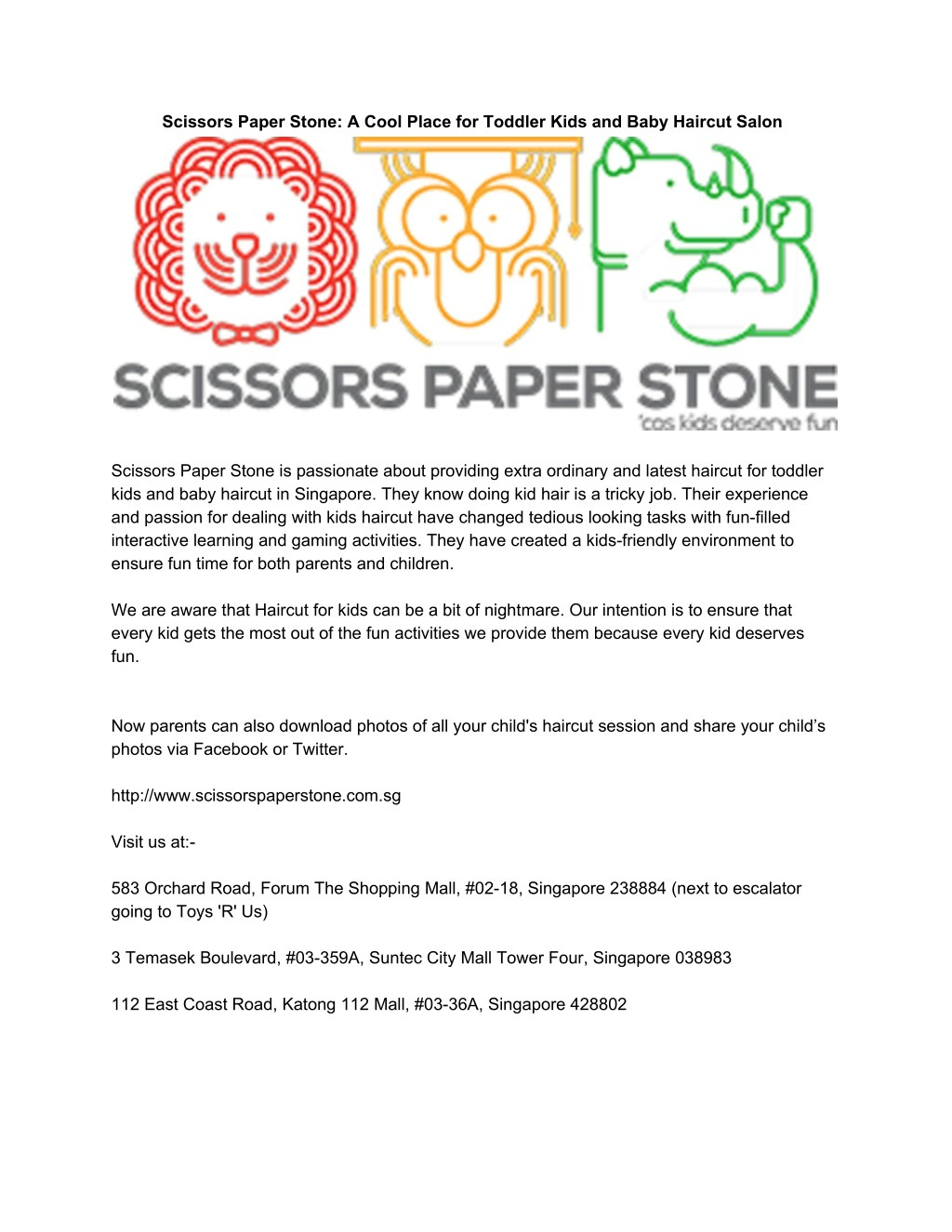 Ppt Scissors Paper Stone A Cool Place For Toddler Kids And Baby