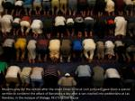 muslims pray for the victims after the imam omar