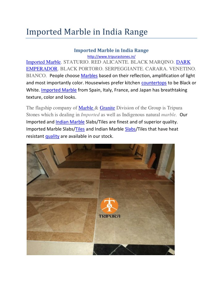 imported marble in india range n.