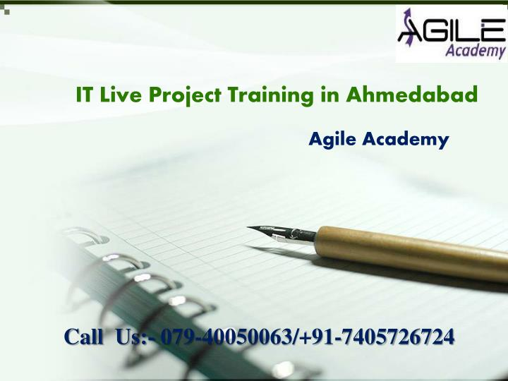 it live project training in ahmedabad n.