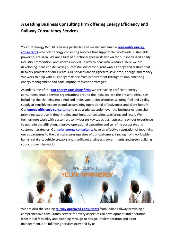 a leading business consulting firm offering n.