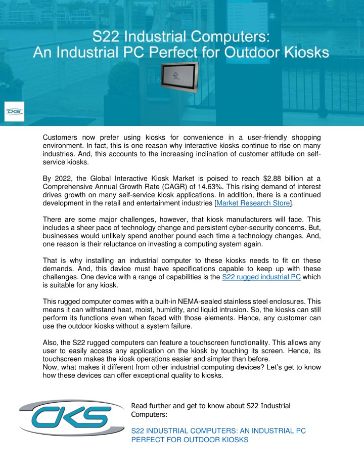 PPT - S22 Industrial Computers: An Industrial PC Perfect for Outdoor