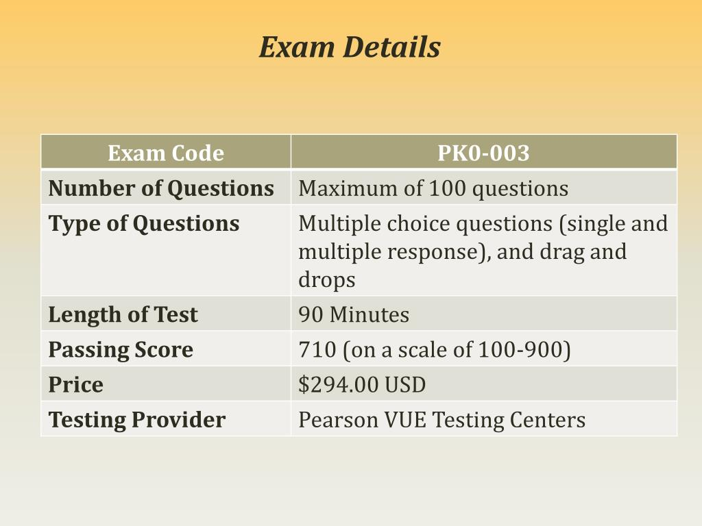 PPT - CompTIA PK0-003 Exam Study Best Guide - PK0-003 Exam