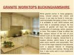 granite worktops buckinghamshire