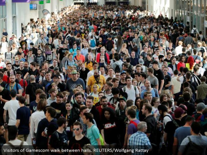 beafd15ffecf Visitors of Gamescom walk between halls. REUTERS Wolfgang Rattay