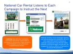 national car rental listens to each c ampaign