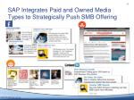sap integrates paid and owned media types