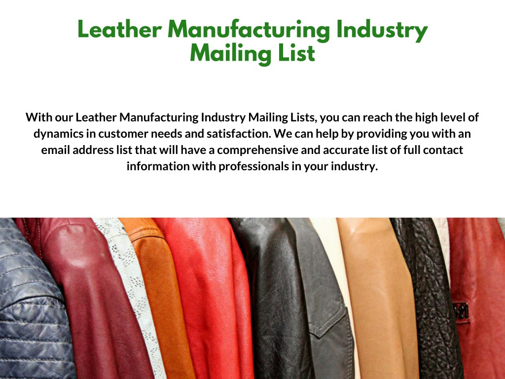 PPT - Manufacturing Industry Mailing Lists PowerPoint