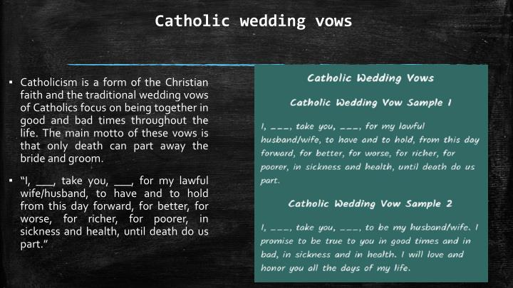Catholic Wedding Vows