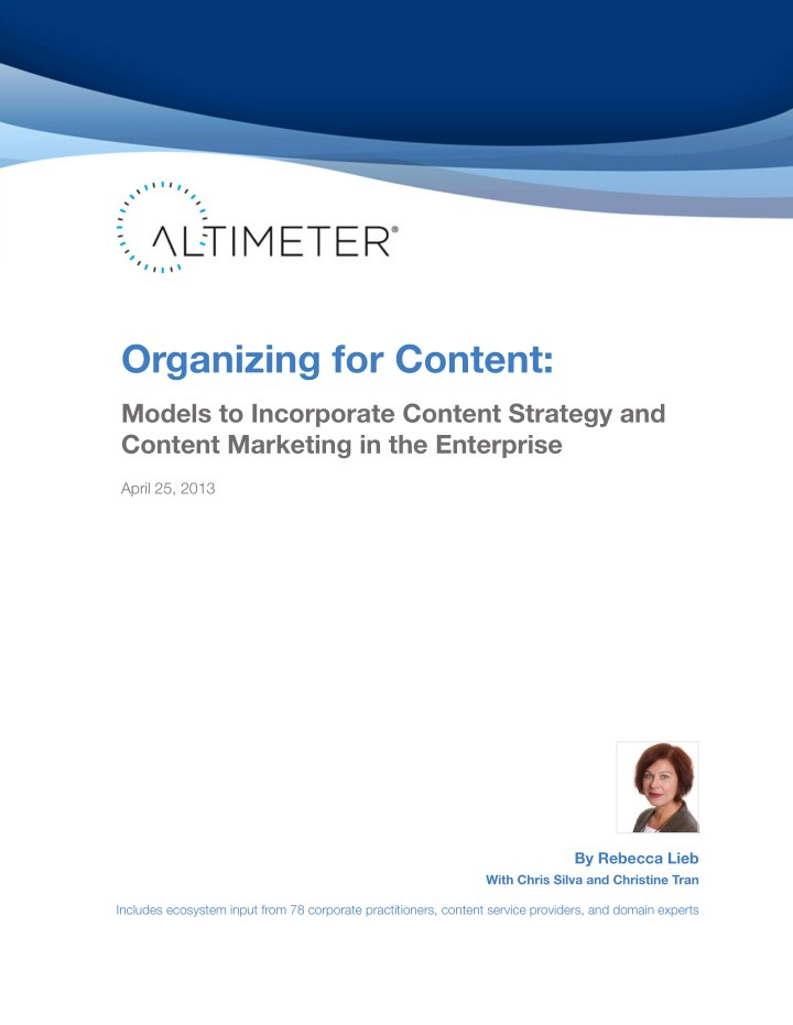 organizing for content n.