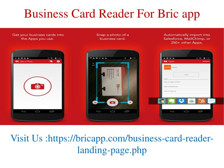 Ppt bric app free business card scanner manager powerpoint business card reader for bric app reheart Images