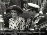 prince charles and princess diana ride in an open