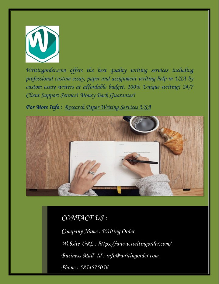 PPT Affordable Research Paper Writing Service In USA