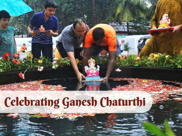 celebrating ganesh chaturthi n.