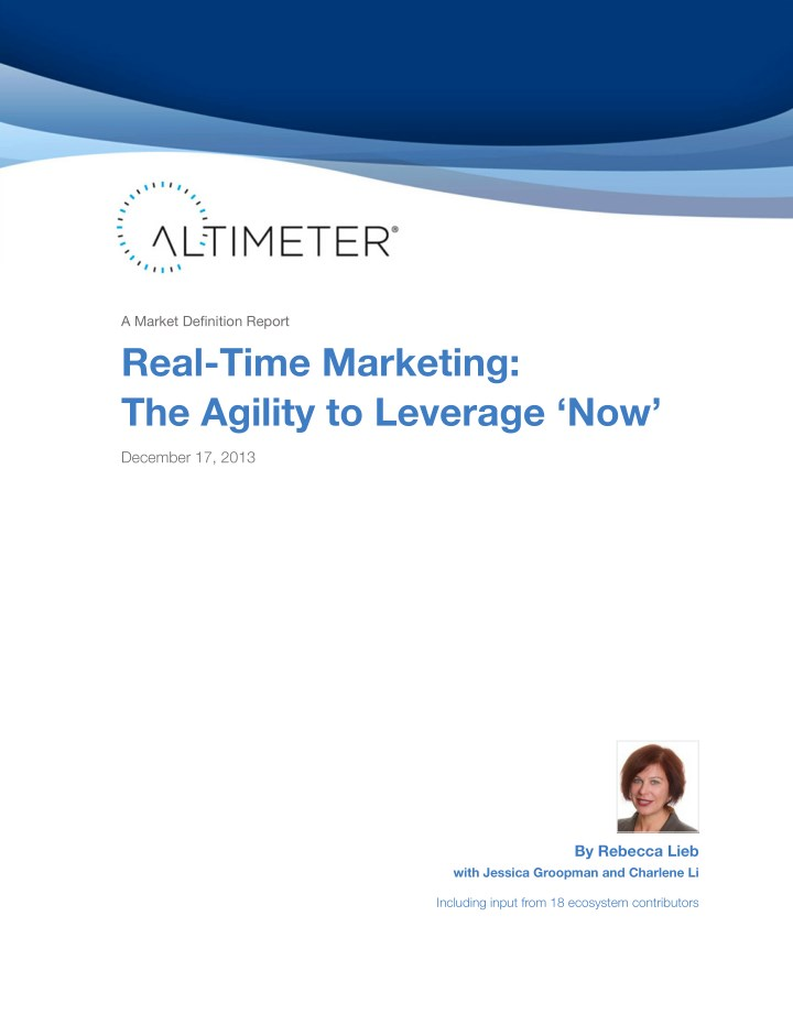 a market definition report real time marketing n.